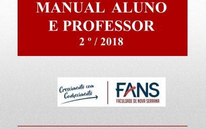 Manual do aluno e do professor 2018
